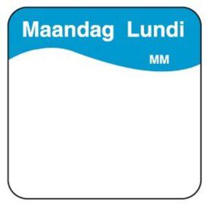 Makk. verwijderbare sticker maandag 25 mm 1000/rol