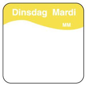 Makk. verwijderbare sticker dinsdag 25 mm 1000/rol