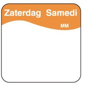 Makk. verwijderb. sticker zaterdag 25 mm 1000/rol
