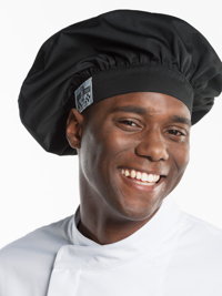 Chef Hat Nero Hoofddeksel
