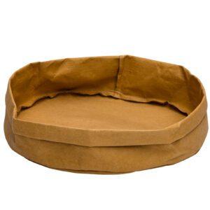 Broodmand papier wasbaar bruin 33 x 33 x 12