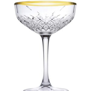 Timeless champagne glas gouden rand 270 ml