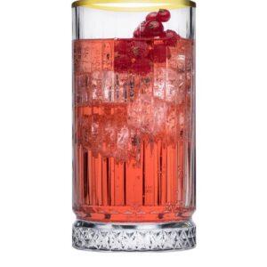 Elysia long drink glas gouden rand 445 ml