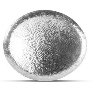 Serveerschaal 34x29cm metaal silver Brass