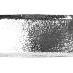 Serveerschaal 44x21cm metaal silver Brass