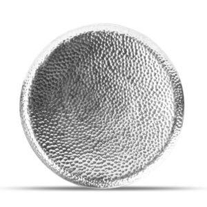 Serveerschaal 33cm metaal silver Brass