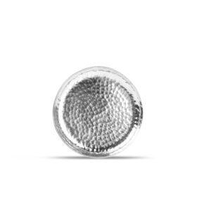 Plat bord 12xH1,5cm metaal silver Brass