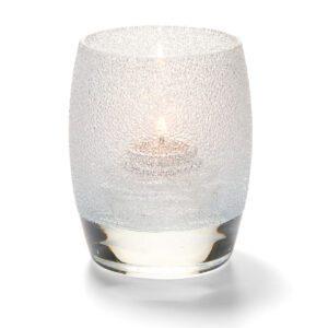 Bolvormige lamp glas transparant 7,6 x 9,5 cm