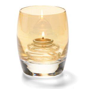 Bolvormige lamp glas goud 7,6 x 9,5 cm