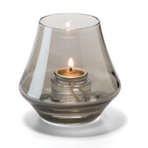 Conische lamp glas rook helder 5 x 9 cm