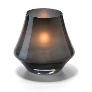 Conische lamp glas zwart mat 5 x 9 cm