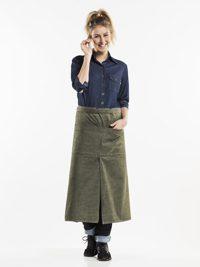 4-Pockets Green Denim Sloof