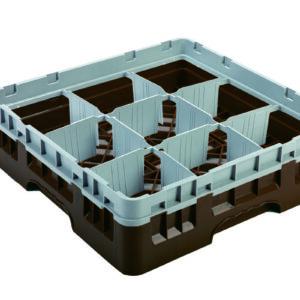 Vaatwaskorf bruin 9 compartimenten max Ø14.8 cm