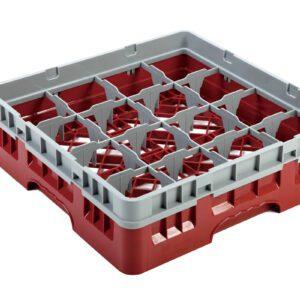 Vaatwaskorf rood 16 compartimenten max Ø10.9 cm