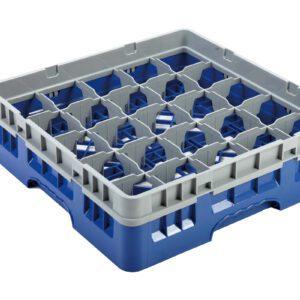 Vaatwaskorf blauw 25 compartimenten max Ø8.7 cm