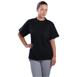 Unisex T-shirt zwart XL