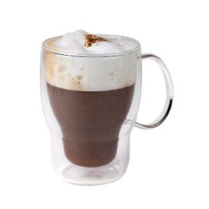 Koffie-theeglas dubbelwandig 400 ml