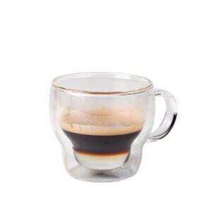 Koffie-theeglas dubbelwandig 230 ml