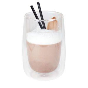 Koffie-/theeglas zonder handvat dubbelw. 400 ml