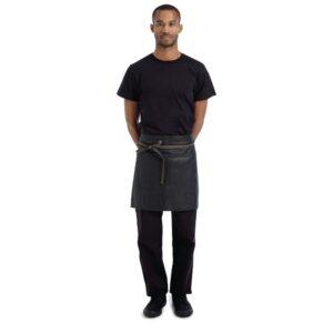 Chef Works Wet Look Boulder Half Bistro Apron Brown Black