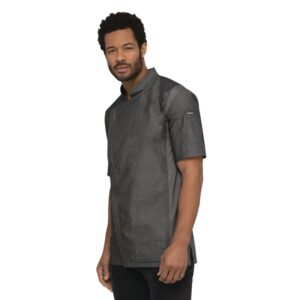 Chef Works Urban Delancey denim koksbuis korte mouw grijs XL