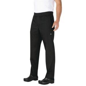 Chef Works lichtgewicht heren koksbroek zwart XL