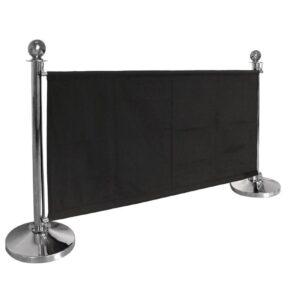 Bolero canvas afzetdoek zwart