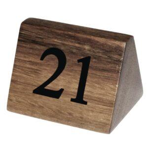 Olympia houten tafelnummers 21-30