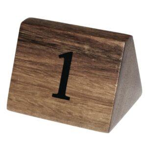 Olympia houten tafelnummers 1-10