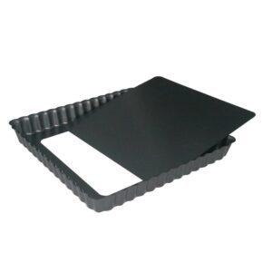 De Buyer vierkante anti-kleef taartvorm met losse bodem 23cm