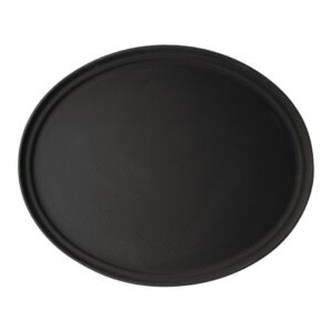 Cambro Camtread ovaal antislip glasvezel dienblad zwart 68,5