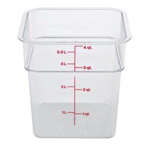 Cambro Camsquare vierkante polycarbonaat voedseldoos 3,8L