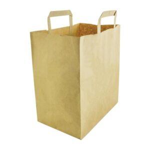 Vegware grote, composteerbare papieren draagtassen