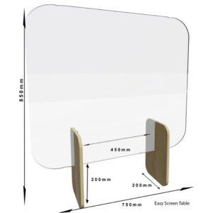 Bolero Easy Screen baliescherm licht eiken 85 x 75cm