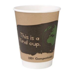 Pak van 500 Fiesta Green composteerbare dubbelwandige koffie