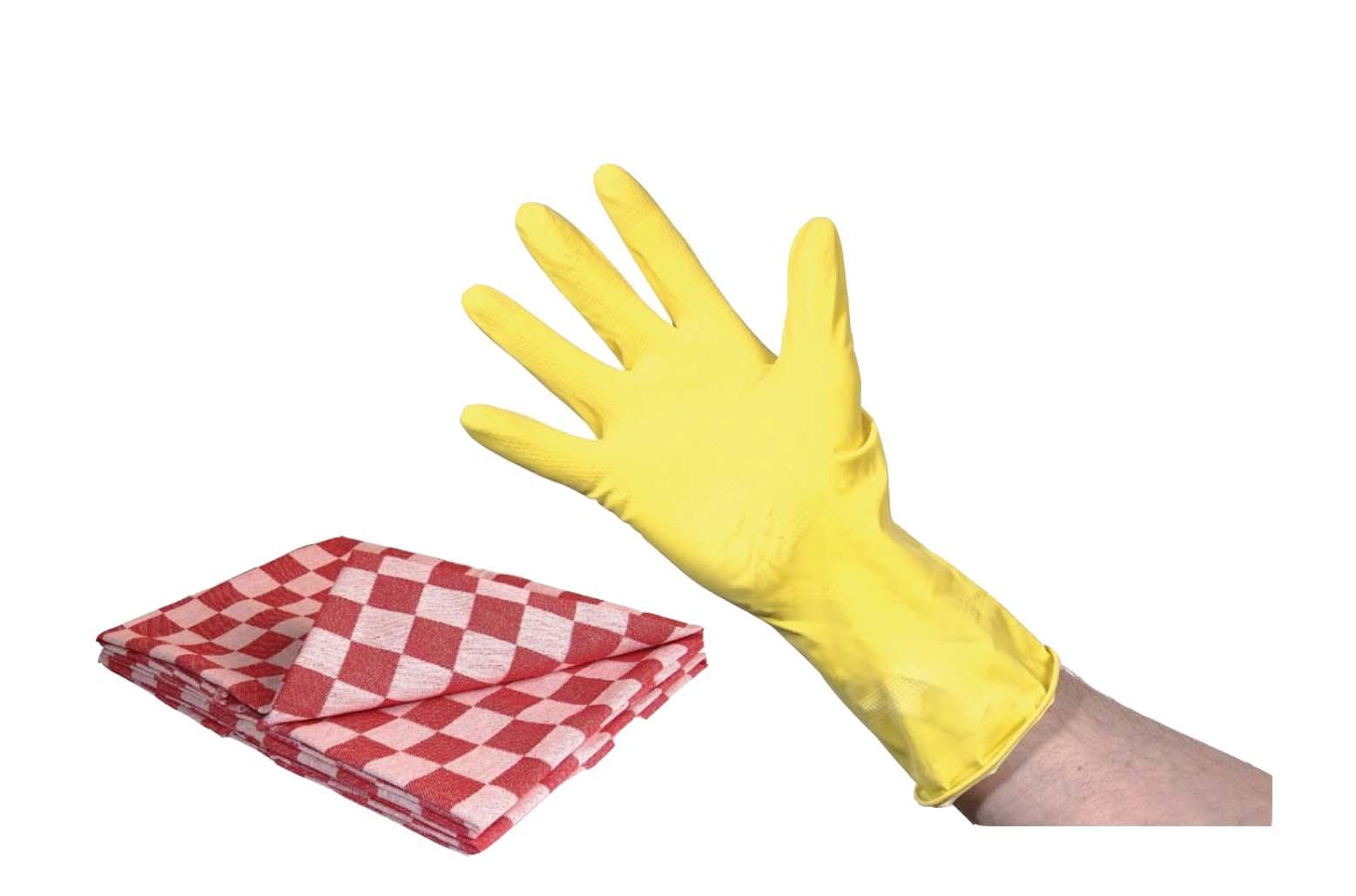 Keukendoeken & handschoenen