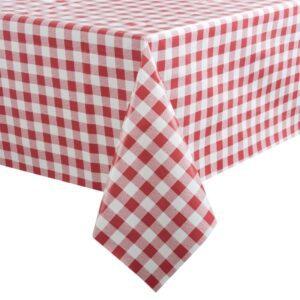 PVC tafelkleed rood/wit 135x225cm