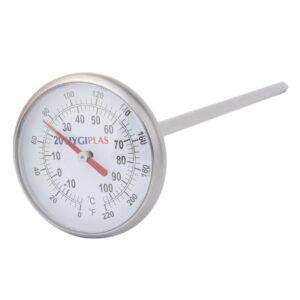 Hygiplas zakthermometer met wijzerplaat