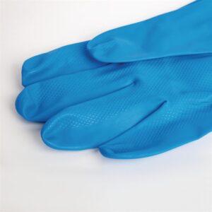 MAPA Ultranitril 475 waterdichte handschoenen voor schoonmaak of voedselbereiding blauw – L