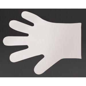 Vegware composteerbare handschoenen voor voedselbereiding wit – M (2400 stuks)