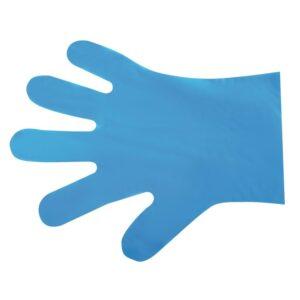 Vegware composteerbare handschoenen voor voedselbereiding blauw – medium