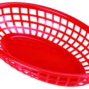 Fastfood mandje rood 23,5 x 15,4 cm