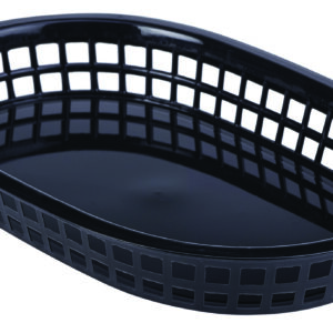 Fastfood mandje zwart 27,5 x 17,5 cm