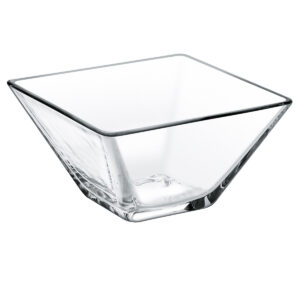 Glazen kom vierkant 8 cm
