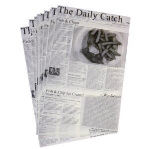 Vetvrij papier krantopdruk 27x42cm Daily Catch