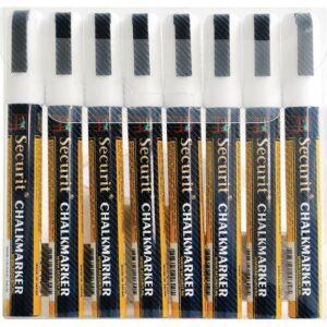 Securit set wisbare krijtstiften 6mm wit