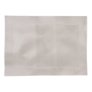 Olympia PVC geweven placemats zilver