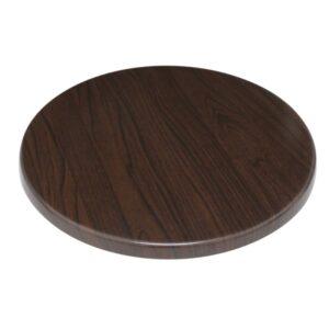 Bolero rond tafelblad donkerbruin 60cm