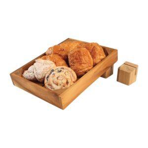 T&G Woodware acaciahouten menuhouder/displaykratverhoger