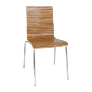 Bolero stoel met vierkante rug eiken – 4 stuks